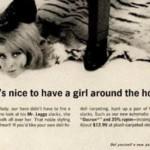 """La pubblicità di Mr. Leggs era ancora legata al paradigma dell'uomo come """"dominatore"""" nel rapporto uomo-donna."""
