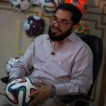Khawaja Masood Akhtar, CEO di Forward Sports, l'impresa a cui è stato affidato l'incarico di produrre i palloni per la Coppa del Mondo.