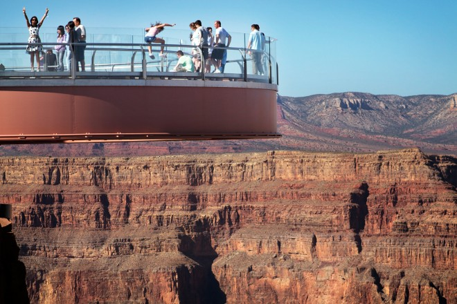 Tourists at the Grand Canyon Skywalk