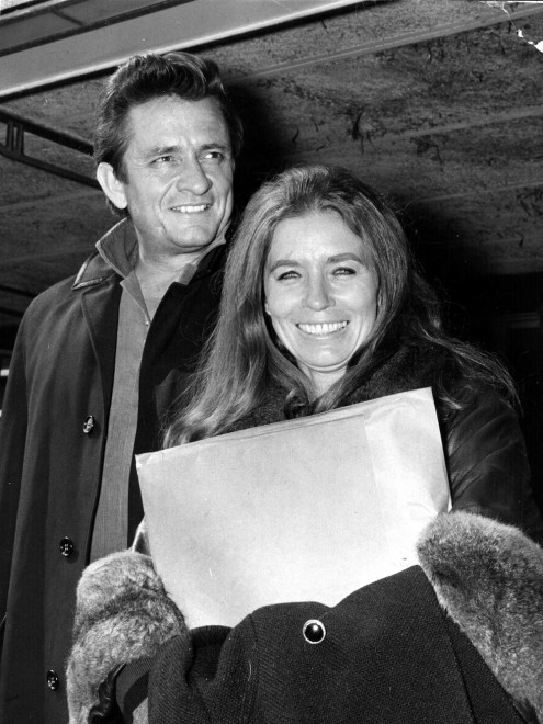 Johnny Cash And Wife June Carter In London
