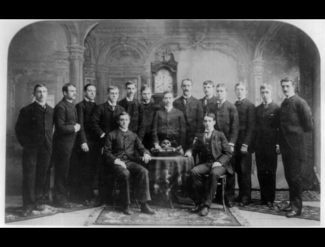 Gifford Pinchot (far right) with fellow Bonesmen (Yale) III A 1-17