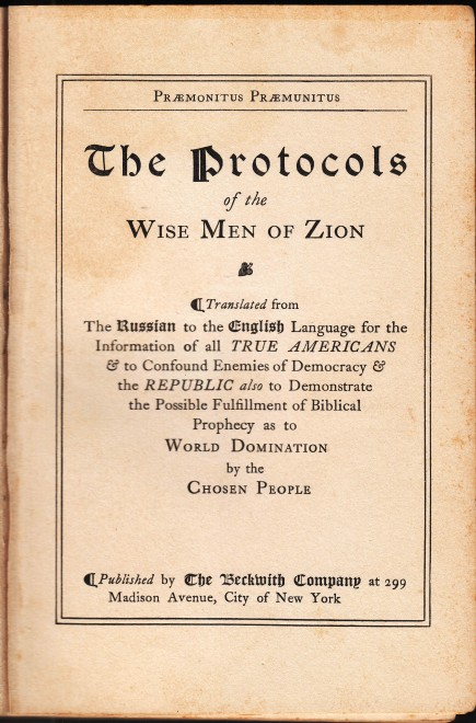 Praemonitus_Praemunitus_-_The_Protocols_of_the_Wise_Men_of_Zion_-_The_Beckwith_Company_(1920)