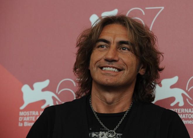 Italian singer Luciano Ligabue poses dur