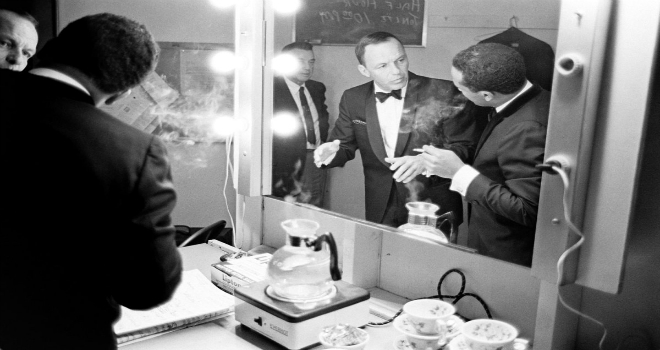Frank Sinatra backstage