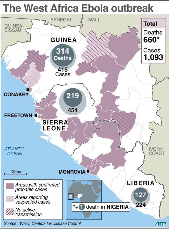 diffusione ebola