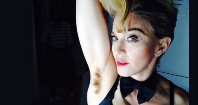 Madonna ascelle