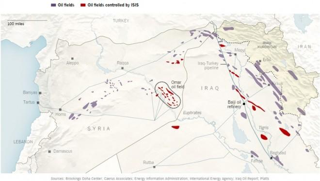 Petrolio Siria Iraq