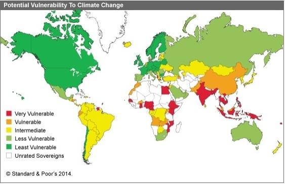 S&P Vulnerabilità ai cambiamenti climatici