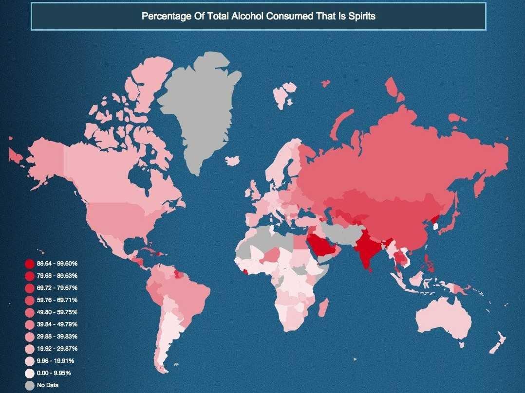 paese in cui si beve più liquore