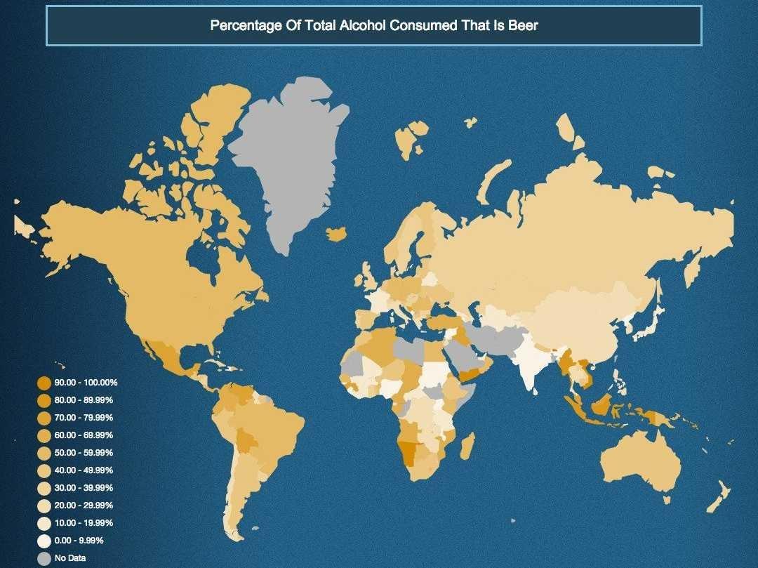 paesi in cui si beveno di più