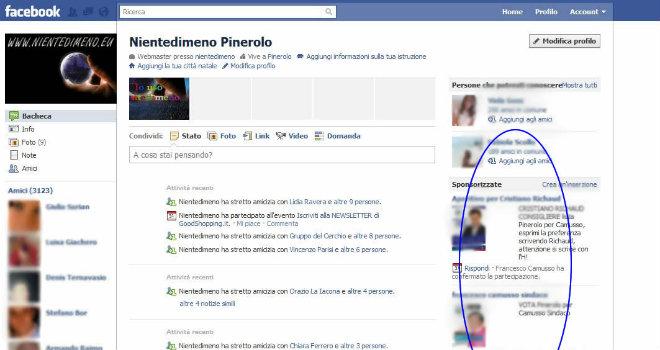 pubblicità social facebook