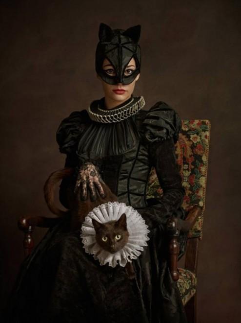 catwoman superhero rinascimento
