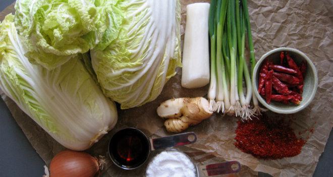 Kimchi ingredienti corea food