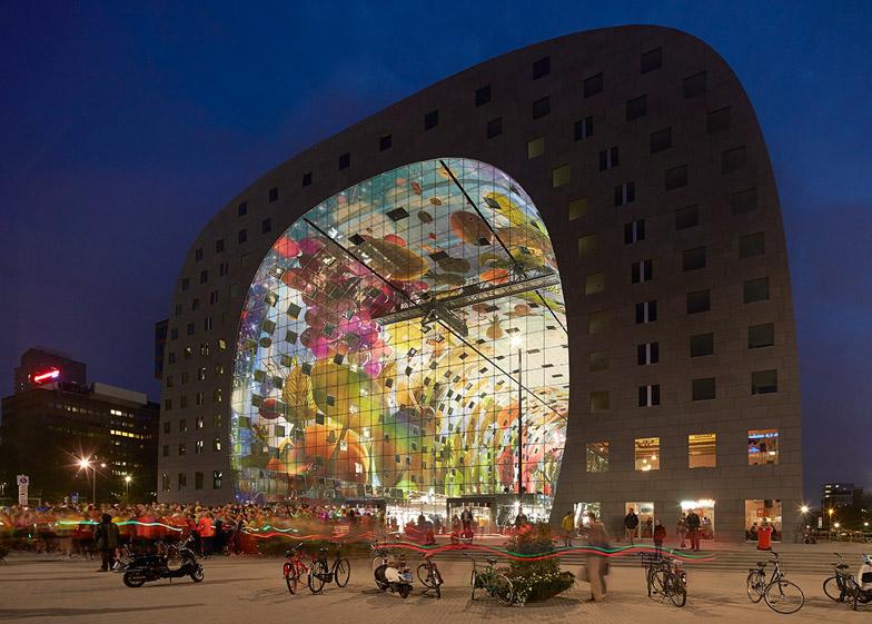 Il nuovo mercato coperto di rotterdam la bellezza dell for Architettura olandese