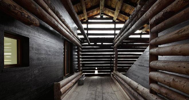 casa rifugio svizzera architettura legno