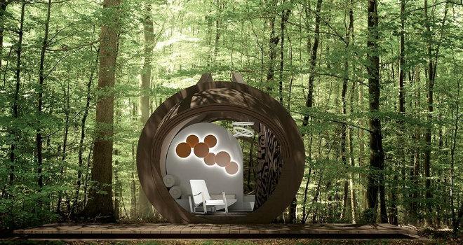 eco hotel mobile architettura