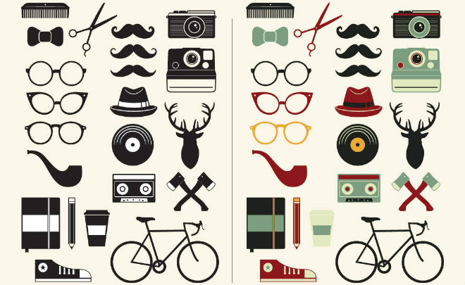 hipster graphic