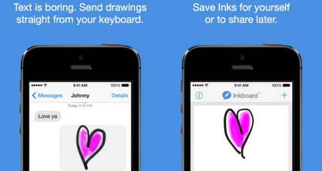 inkboard app disegni text