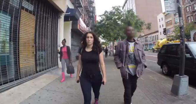 new york walking woman video