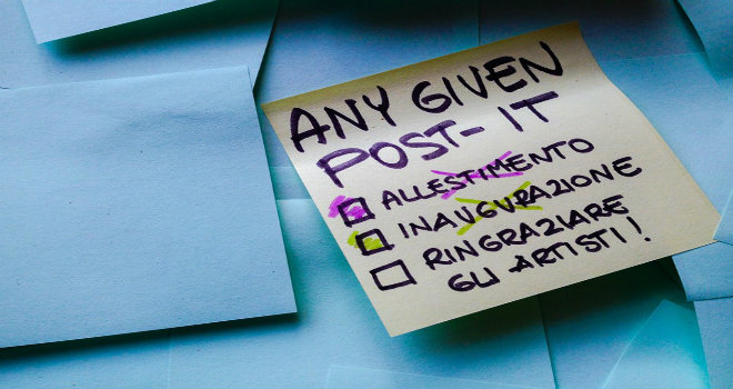 any given post it