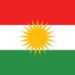 Utilizzata dalla Regione autonoma del Kurdistan, anche chiamato Kurdistan iracheno. Il colore rosso presente sulla bandiera rappresenta il sangue versato dai martiri curdi alla continua lotta per la libertà. Per motivi religiosi il suo utilizzo è vietato in Turchia, Siria e Iran.