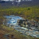 Il fiume Abiskojokkas, nel Nord della Svezia.