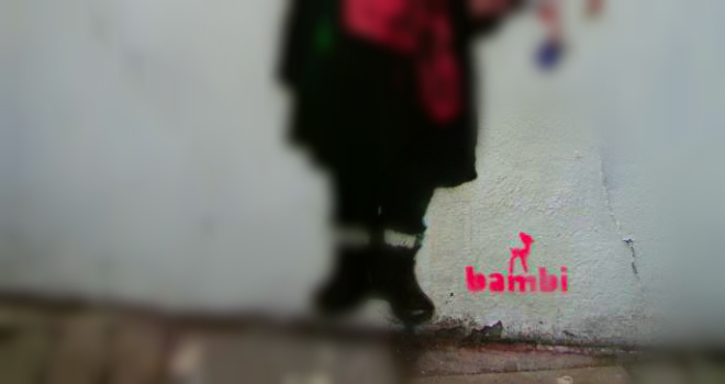 bambi murales graffiti banksy arte spray