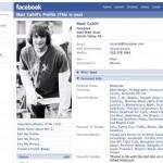 """Ecco un profilo di Facebook nel 2005. Il sito cambiò nome da """"the Facebook"""" a """"Facebook"""""""