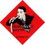 Kostelecké Uzeniny è una famosa società ceca salsicce dal 1917. Sebbene continui a stare su tutti i prodotti della società a partire dagli anni '20, non è difficile capire perché i non cechi trovino il logo tanto divertente, soprattutto se si pone l'accento sull'avidità che si percepisce dallo sguardo invasato dell'uomo.