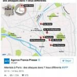 Non vi sono state delle sparatorie a Les Halles, a Belleville e a Place de la République