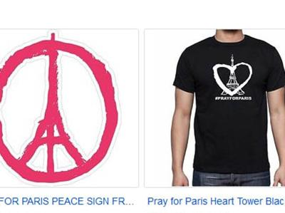 PrayforParis maglie
