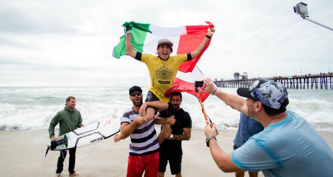 leonardo fioravanti campione del mondo surf california oceanside