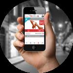 LIA MOBILE è un'applicazione di mobile commerce, mix tra mondo online e fisico, con il supporto delle notifiche geolocalizzate attraverso tecnologia UMTS e Beacons.