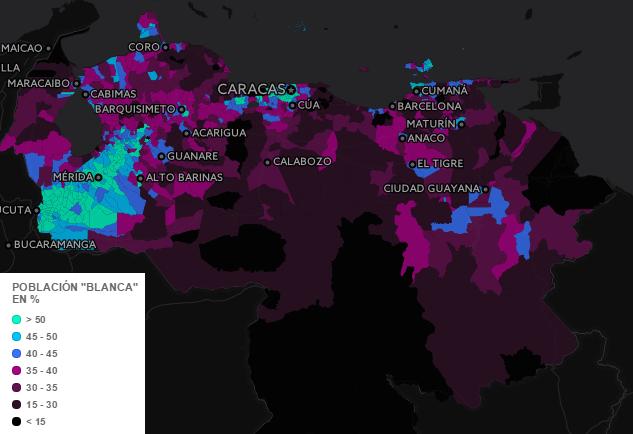 mappa etnica venezuela