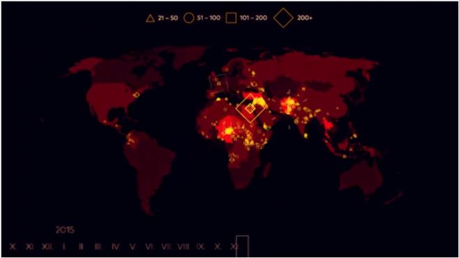 mappa terrorismo