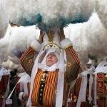 Mardi Gras a Binche in Belgio, foto di Sergi Reboredo