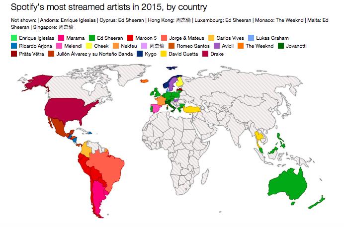Mappa Spotify