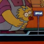 Nei titoli di apertura originali dei Simpson, un cassiere passa Maggie sul registratore di cassa. Il registratore legge $847,63. Secondo un sondaggio la cifra si riferisce  al costo medio mensile per crescere un bambino negli Stati Uniti nel 1989.