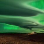 Aurora boreale in Islanda, foto di Daniele Boffelli