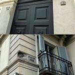 Corso Venezia numero 13: il palazzo porta ancora i segni delle cannonate austriache durante le Cinque Giornate di Milano del 1848.
