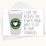 Ti amo perché sai sempre cosa prendermi da Starbucks