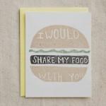 Mi piacerebbe condividere il mio cibo con te
