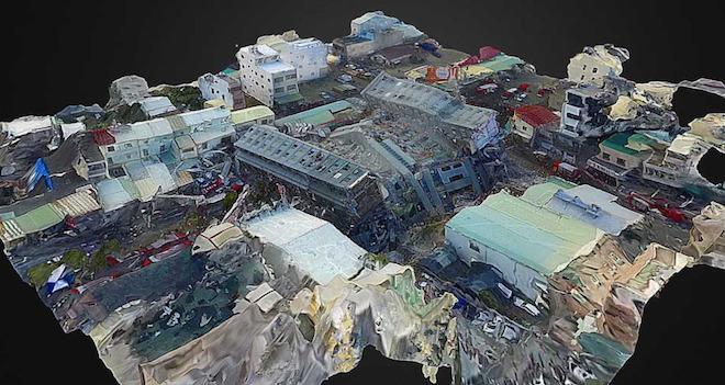 Modellino 3d taiwan terremoto