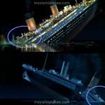 Sparizione dei componenti della nave: durante l'affondamento spariscono alcuni elementi fissi del transatlantico.