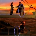 La distanza delle ringhiere sul ponte non coincide nelle diverse angolature. Io dico che è un errore di montaggio. Ti fidi di me?