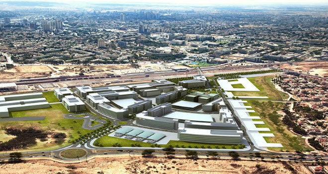 Il complesso info-urbano a Be'er Sheva, bacino di utenza di oltre 400 Startup