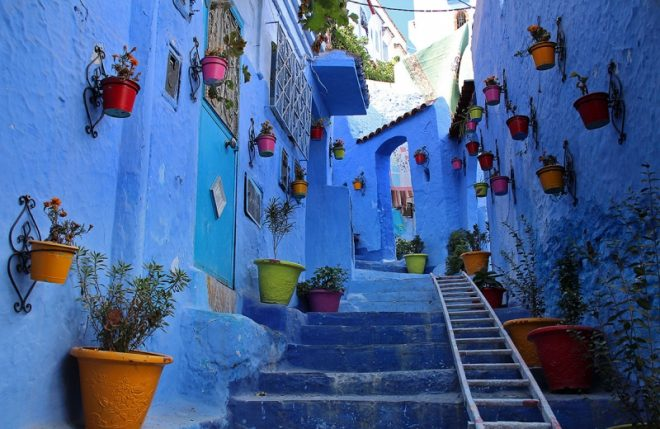 Chefchaouen, Marocco. Photograph Singa HitamFlickr