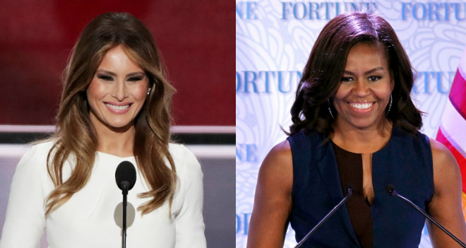 michelle obama-melania trump