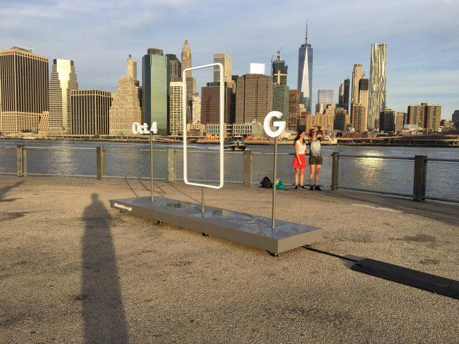 Questo strana installazione è apparsa a Brooklyn Bridge Park, NY.