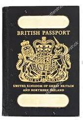 vecchio passaporto del Regno Unito
